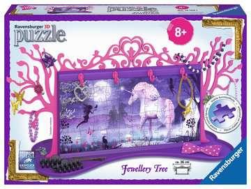 Unicorn Jewellery Tree 3D Puzzle®, 108pc 3D Puzzle®;Shaped 3D Puzzle® - image 1 - Ravensburger