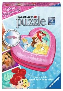 Disney Princess Heart Shaped 3D Puzzle, 54pc 3D Puzzle®;Shaped 3D Puzzle® - image 1 - Ravensburger