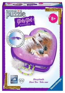 Herzschatulle - Pferde 3D Puzzle;3D Puzzle-Girly Girl - Bild 1 - Ravensburger