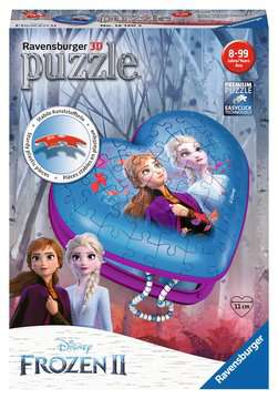 Frozen 2, Heart Shaped 3D Puzzle, 54pc 3D Puzzle®;Shaped 3D Puzzle® - image 1 - Ravensburger