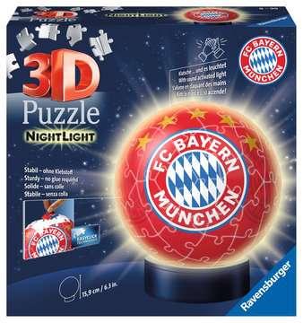 Nachtlicht - FC Bayern München 3D Puzzle;3D Puzzle-Ball - Bild 1 - Ravensburger