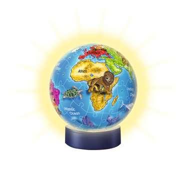 Puzzle 3D rond 72 p illuminé - Globe Puzzle 3D;Puzzles 3D Ronds - Image 3 - Ravensburger