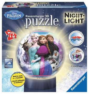 Frozen Lampada Notturna 3D Puzzle;3D Lampada Notturna - immagine 1 - Ravensburger