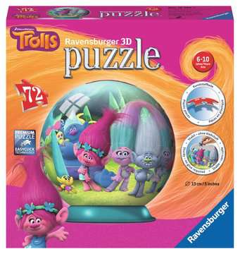 Puzzle 3D Ball Trolls 3D Puzzle;3D Puzzle-Ball - immagine 1 - Ravensburger