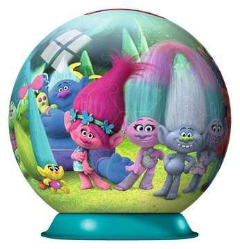 Puzzle 3D Ball Trolls 3D Puzzle;3D Puzzle-Ball - immagine 2 - Ravensburger