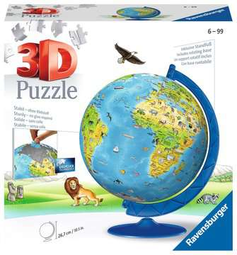 Children s World Map 3D Puzzle®, 180pc 3D Puzzle®;Maps 3D Puzzle® - image 1 - Ravensburger