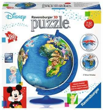 Disney Globe 3D Puzzle, 180 pc 3D Puzzle®;Puslebolde - Billede 1 - Ravensburger