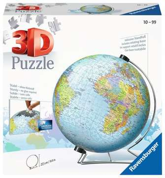 The World on V-Stand 3D Puzzle®, 540pc 3D Puzzle®;Puslespillballer - bilde 1 - Ravensburger