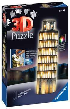 Torre di Pisa Night Edition 3D Puzzle;3D Puzzle - Building Night Edition - immagine 1 - Ravensburger