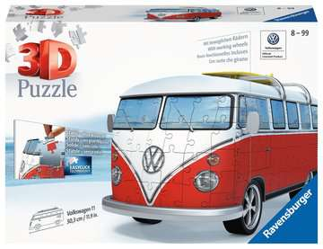 VW T1 Campervan 3D Puzzle®, 162pc 3D Puzzle®;Shaped 3D Puzzle® - image 1 - Ravensburger
