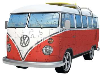 VW T1 Campervan 3D Puzzle®, 162pc 3D Puzzle®;Shaped 3D Puzzle® - image 3 - Ravensburger