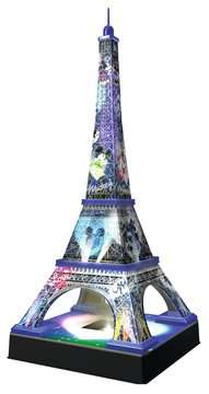 Eiffel Tower Disney at night Paris  3D Puzzle, 216pc 3D Puzzle®;Natudgave - Billede 3 - Ravensburger