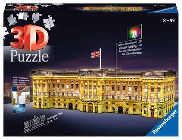 Buckingham Palace Night Edition 3D Puzzle, 216pc 3D Puzzle®;Natudgave - Billede 1 - Ravensburger