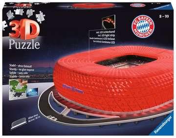 Allianz Arena bei Nacht 3D Puzzle;3D Puzzle-Bauwerke - Bild 1 - Ravensburger