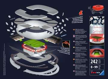 Allianz Arena bei Nacht 3D Puzzle;3D Puzzle-Bauwerke - Bild 2 - Ravensburger