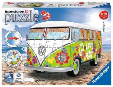 Puzzle 3D Combi T1 Volkswagen - Hippie Style Puzzle 3D;Puzzles 3D Objets iconiques - Image 1 - Ravensburger