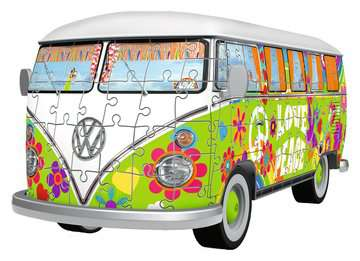 Puzzle 3D Combi T1 Volkswagen - Hippie Style Puzzle 3D;Puzzles 3D Objets iconiques - Image 2 - Ravensburger