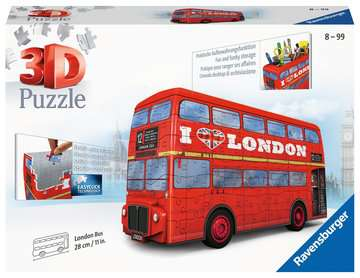 London Bus 3D Puzzle, 216pc 3D Puzzle®;Shaped 3D Puzzle® - image 1 - Ravensburger