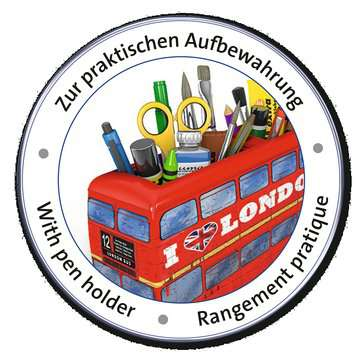 12534 3D Puzzle-Sonderformen London Bus von Ravensburger 4
