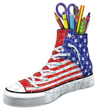 Sneaker American Flag 3D Puzzle;3D Forme Speciali - immagine 3 - Ravensburger