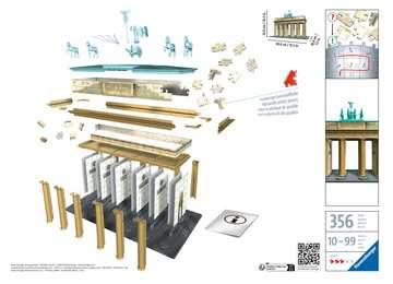 12551 3D Puzzle-Bauwerke Brandenburger Tor von Ravensburger 2