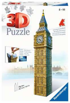 Big Ben 3D Puzzle, 216pc 3D Puzzle®;Buildings 3D Puzzle® - image 1 - Ravensburger