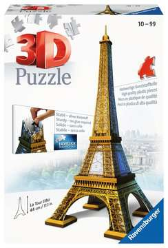 Eiffel Tower 3D Puzzle, 216pc 3D Puzzle®;Buildings 3D Puzzle® - image 1 - Ravensburger
