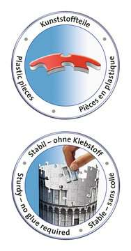 Leaning Tower of Pisa 3D Puzzle, 216pc 3D Puzzle®;Bygninger - Billede 5 - Ravensburger