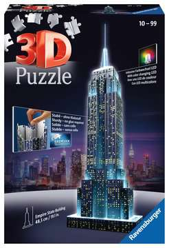 Empire State Building at Night, 3D Puzzle 3D Puzzle®;Natudgave - Billede 1 - Ravensburger