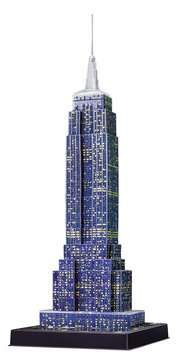 EMPIRE STATE B. NOCĄ 3D 216 EL 14 Puzzle 3D;Night Edition - Zdjęcie 4 - Ravensburger