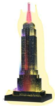 EMPIRE STATE B. NOCĄ 3D 216 EL 14 Puzzle 3D;Night Edition - Zdjęcie 6 - Ravensburger
