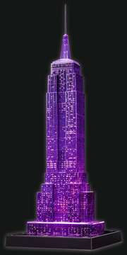 EMPIRE STATE B. NOCĄ 3D 216 EL 14 Puzzle 3D;Night Edition - Zdjęcie 7 - Ravensburger