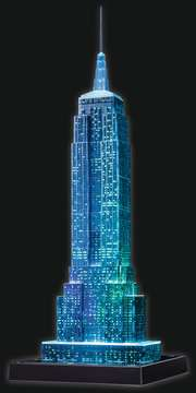 EMPIRE STATE B. NOCĄ 3D 216 EL 14 Puzzle 3D;Night Edition - Zdjęcie 8 - Ravensburger