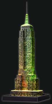 Empire State Building at Night, 3D Puzzle 3D Puzzle®;Natudgave - Billede 9 - Ravensburger