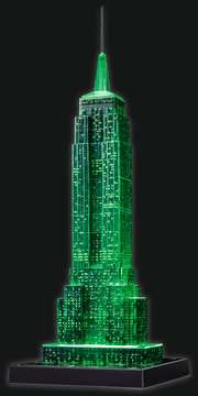 EMPIRE STATE B. NOCĄ 3D 216 EL 14 Puzzle 3D;Night Edition - Zdjęcie 10 - Ravensburger