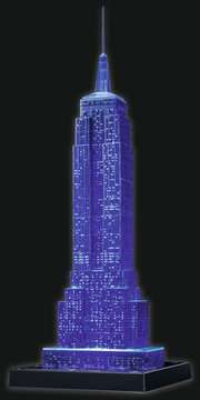 EMPIRE STATE B. NOCĄ 3D 216 EL 14 Puzzle 3D;Night Edition - Zdjęcie 11 - Ravensburger