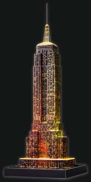 EMPIRE STATE B. NOCĄ 3D 216 EL 14 Puzzle 3D;Night Edition - Zdjęcie 13 - Ravensburger