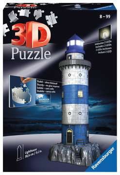 Lighthouse at Night 3D Puzzles;3D Puzzle Buildings - image 1 - Ravensburger