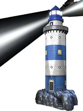 Lighthouse at Night 3D Puzzles;3D Puzzle Buildings - image 3 - Ravensburger