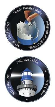 Lighthouse at Night 3D Puzzles;3D Puzzle Buildings - image 4 - Ravensburger
