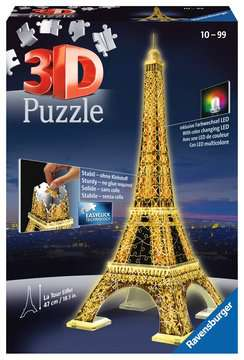 Eiffel Tower 3D Puzzle by Night 3D Puzzle®;Natudgave - Billede 1 - Ravensburger