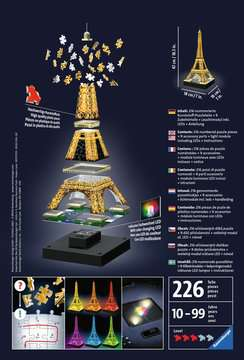 Eiffel Tower by Night 3D Puzzles;3D Puzzle Buildings - image 2 - Ravensburger