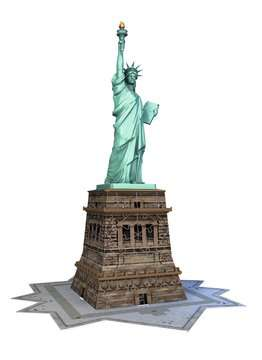 Puzzle 3D Statue de la Liberté Puzzle 3D;Puzzles 3D Objets iconiques - Image 3 - Ravensburger