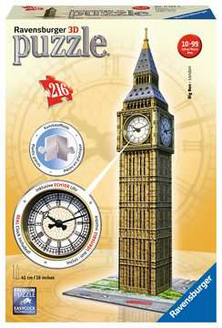 Big Ben 3D Puzzle, with Clock, 216pc 3D Puzzle®;Bygninger - Billede 1 - Ravensburger