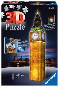 Big Ben at Night 3D Puzzle, 216pc 3D Puzzle®;Natudgave - Billede 1 - Ravensburger