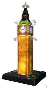 Big Ben at Night 3D Puzzle, 216pc 3D Puzzle®;Natudgave - Billede 3 - Ravensburger