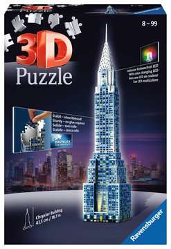Chrysler Building Night Edition 3D Puzzle;3D Puzzle - Building Night Edition - immagine 1 - Ravensburger