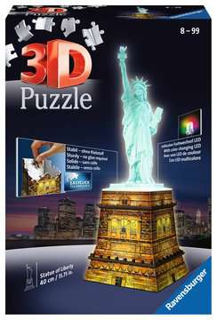 Statue of Liberty 3D Puzzle®, Night Edition 3D Puzzle®;Natudgave - Billede 1 - Ravensburger