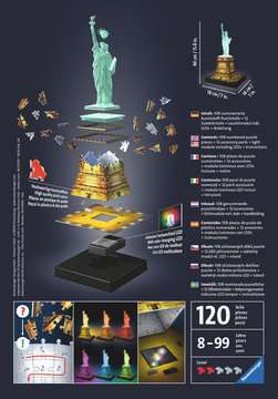 Statue of Liberty at night 3D Puzzles;3D Puzzle Buildings - image 2 - Ravensburger