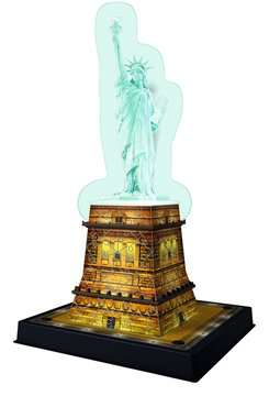 Statue of Liberty at night 3D Puzzles;3D Puzzle Buildings - image 3 - Ravensburger